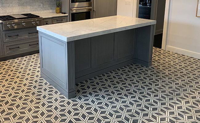 Concrete Tile Before Restoration