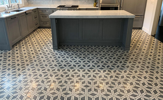 Concrete Tile Cleaning and Sealing