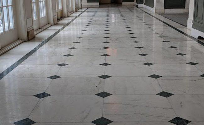 Marble Hallway Restoration