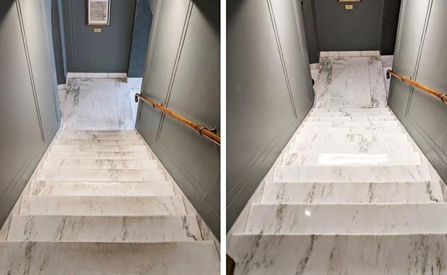 Marble Stairway Restoration