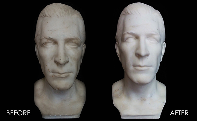 Marble Bust Restored